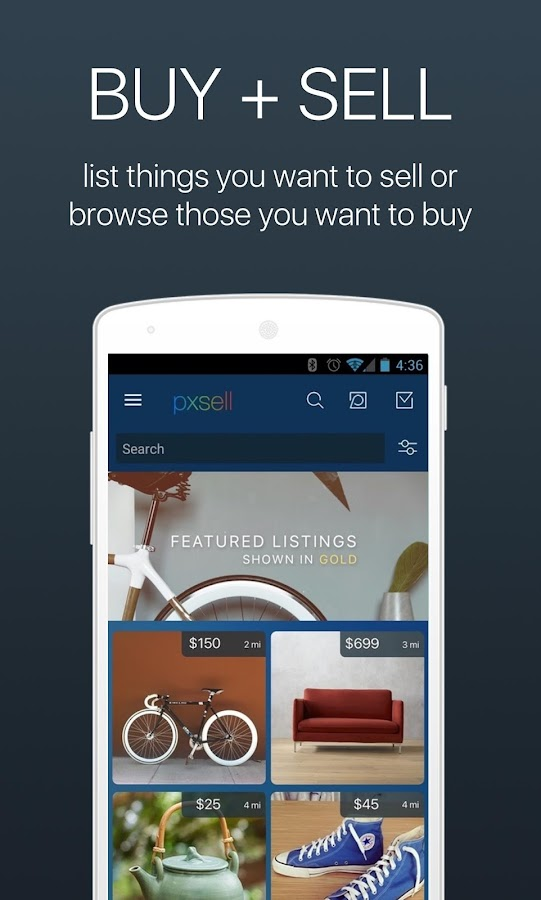 Pxsell: Buy & Sell or Make An Offer On Used Stuff- screenshot