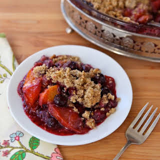 Peach and Blueberry Crisp.