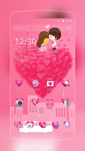 粉色愛心之吻心