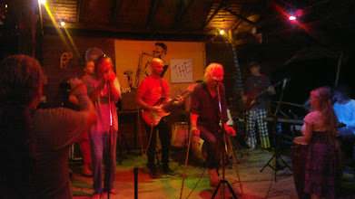 Photo: Playing with the cripples on stage at Saturday night Jam Bar.