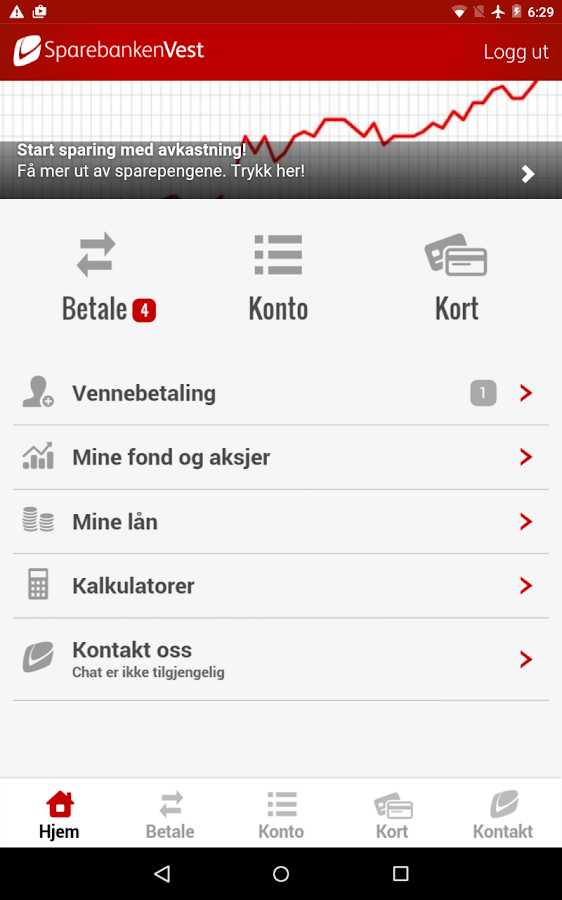 Sparebanken Vest- screenshot
