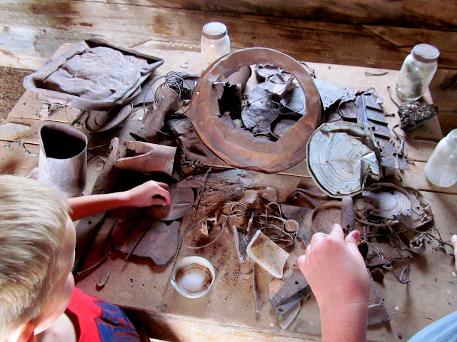 Historic artifacts in Morrell Cabin