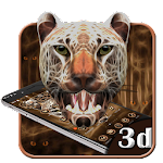 3D Neon Cheetah Theme Icon