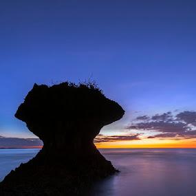 Umbrella Rocks - Agno, Pangasinan, Philippines by Emil Gonzales - Landscapes Sunsets & Sunrises ( umbrella rocks agno pangasinan )