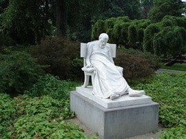 Socrates Dead sculpture in the Parco Ciani