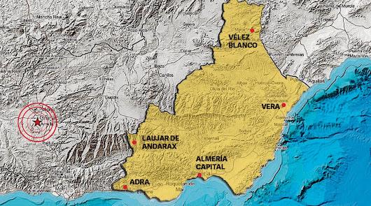 Los terremotos de Granada se dejan notar desde Adra a los Vélez