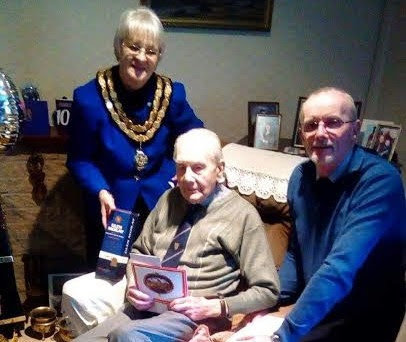 100th birthday celebrations for Welshpools Normandy Veteran