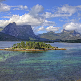 Island in the fjord.. by Roger Gulle Gullesen - Landscapes Waterscapes