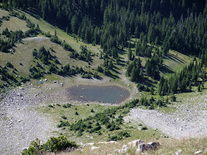 Photo: Campers near a small tarn below North Truchas Lake
