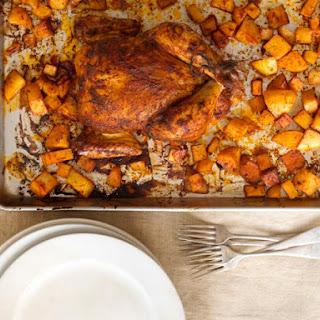 Weeknight Roast Chicken with Potatoes