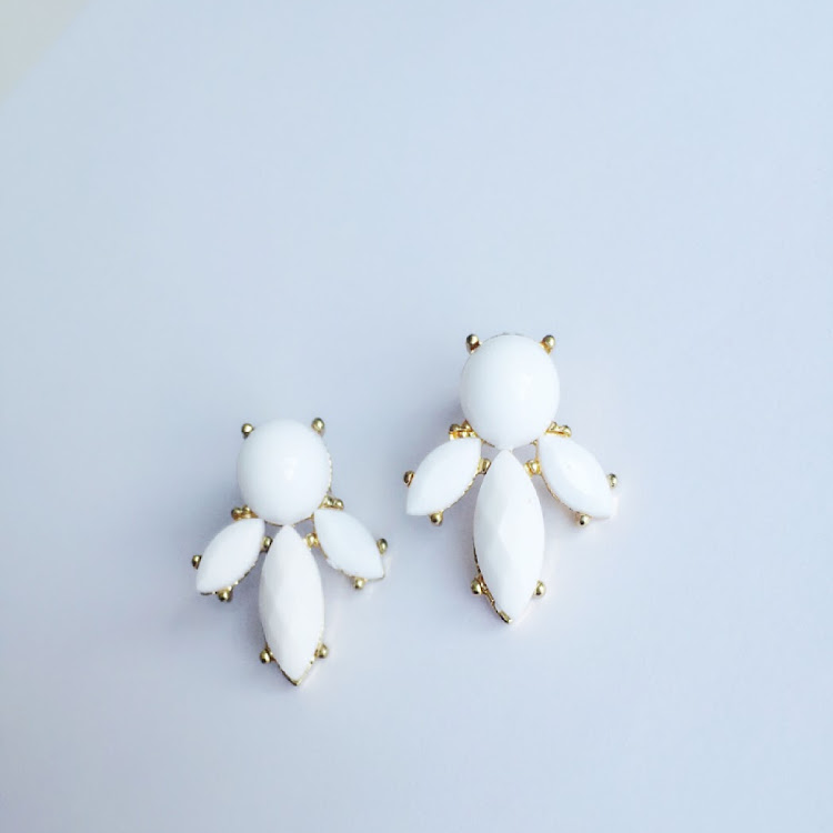 E029 - W. Angelic Flower Petal Earrings