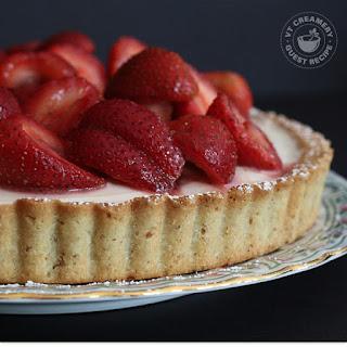 Mascarpone Cheesecake Tart with Rosemary-Kissed Strawberries