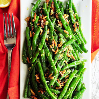 Zesty Garlic Almond Green Beans
