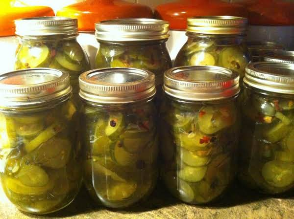 24 Hour Sweet Pickles
