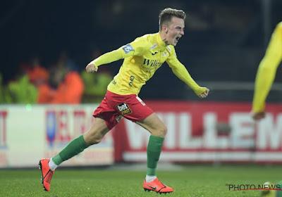 Robbie D'Haese (19) kroonde zich ei zo na tot matchwinnaar van KV Oostende