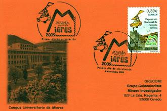 Photo: Matasellos Primer día de Circulación del sello de la Exposición Nacional de Filatelia Juvenil de Mieres