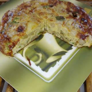 Spanish Omlette ( Tortilla Española ) in Indian way.