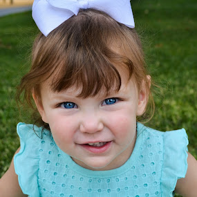 Baby Blue Eyes by Jessica Simmons - Babies & Children Child Portraits ( park, baby girl, daughter, blue eyes, portraits,  )