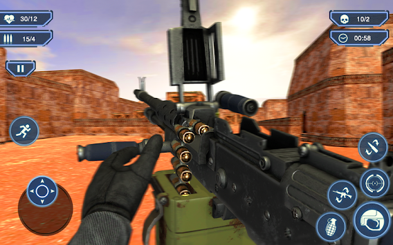 Counter Terrorist 2 Machine Gun Shooting Strike