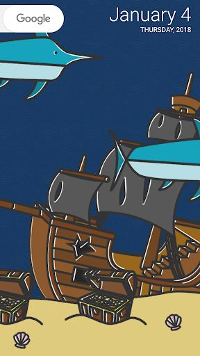 cartoon aquarium live wallpaper screenshot 3