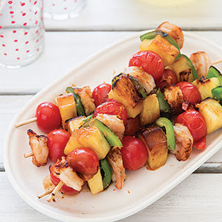 Orange-Coffee Glazed Shrimp Kabobs