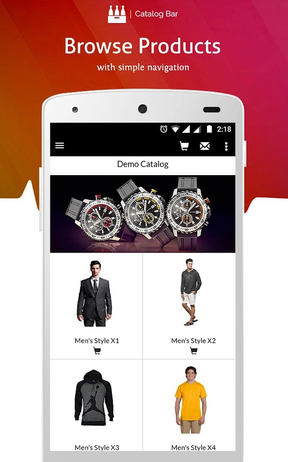 Product Catalog & Mobile Sales App- screenshot