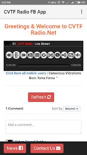CVTF Radio FB App - náhled
