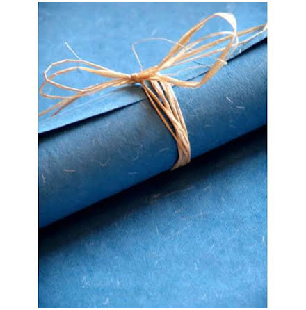 Himmelsblå grova fibrer