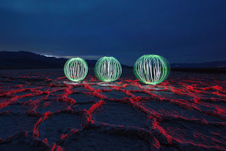 Photo: Light Painting in Badwater Basin -   We'll be back for another one in December.  Every time the light painting gets a little more elaborate... I already have some ideas regarding things I want to try next time!