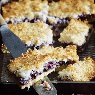 Blueberry Macaroon Slice.