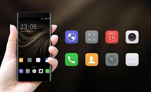 Theme for Huawei P10: Golden Black Stylish Skin - náhled