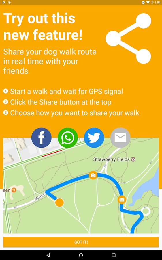 Dog Walk - Track your dogs!: captura de pantalla