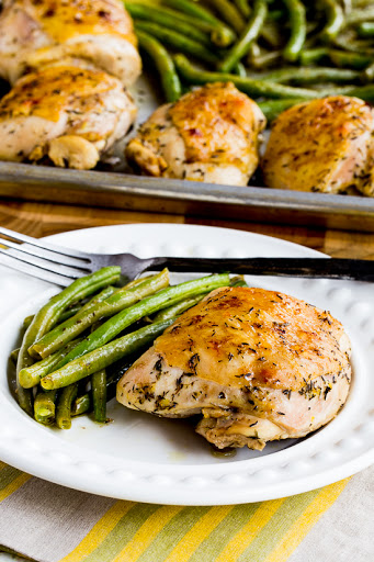 Roasted Lemon Chicken and Green Beans Sheet Pan Meal