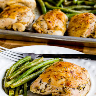 Roasted Lemon Chicken and Green Beans Sheet Pan Meal.