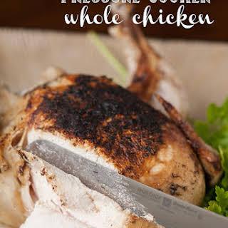 Pressure Cooker Whole Chicken.