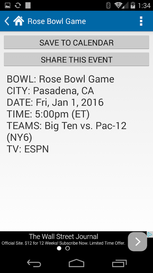 1st college college football schedule tonight
