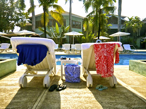 Photo: Our favorite spot by the pool.