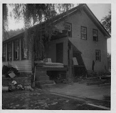 Photo: The back of the Sheedys' house. The garage was swept away by flood waters. Photo taken by John P. Sheedy, submitted by Jack Sheedy.
