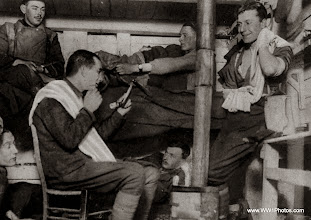 Photo: An Early Morning Scene In An Officers Dug-Out In A Front Line Trench