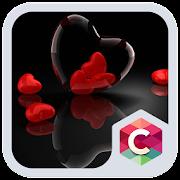 App Romantic Hearts Theme: Red Color Black heart Love APK for Windows Phone