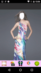 Rainbow Dress Photo Montage - náhled