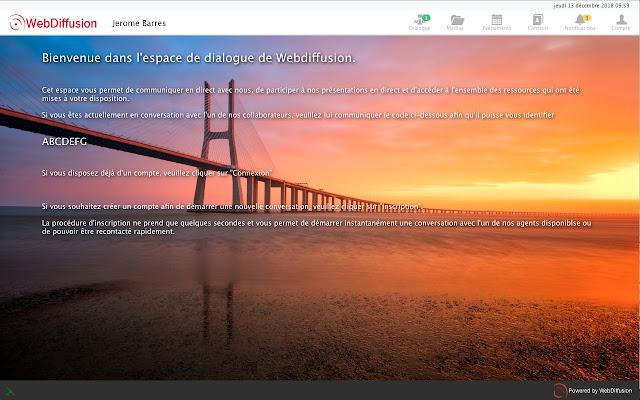 Webdiffusion Screen Sharing