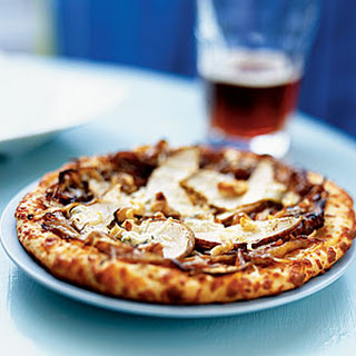 Caramelized Onion-Pear Pizza
