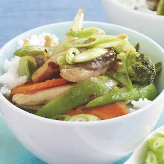 Lemon Chicken and Vegetable Stir Fry.