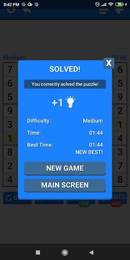 Medium Sudoku Puzzles 1.2.4 screenshots 4