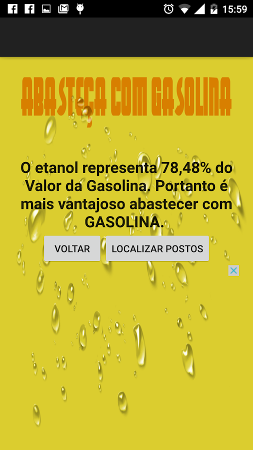 Gasolina ou Etanol- screenshot