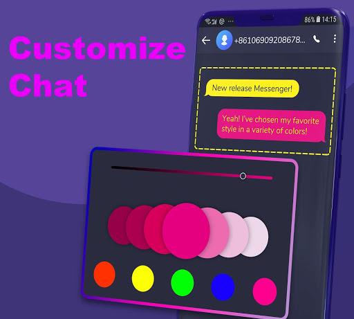 Hii - SMS Messenger and caller app screenshots 4