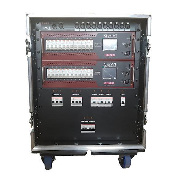 24Way LSC GenVI Dimmer Rack (no patch) front