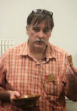 Photo: Tim also made a couple bottle stoppers from the oak scraps.