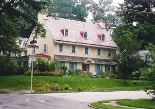 Photo: Mt. Airy?Chestnut Hill. A Colonial Revival.  The dormers are of a kind seen less often. I like the colors, a pleasant looking house.